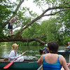 Jeff having fun on a rope swing on the river.