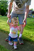Alia taking Daddy Dan for a walk.