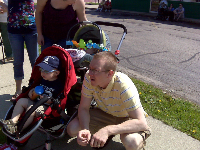Watching the Sun Prairie Memorial Day parade.