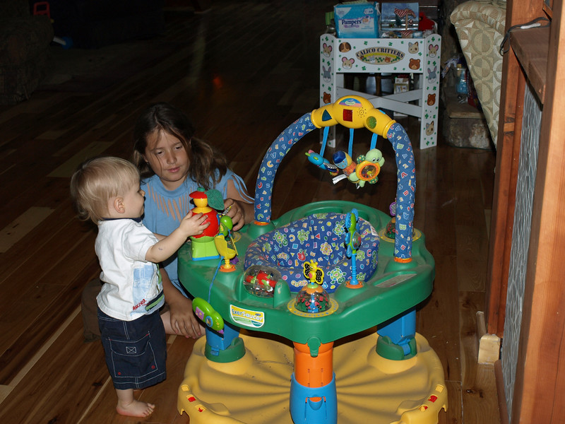 Cody and cousin Riley playing.  5/26/07