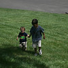 Tyler helping Cole up G's hill..