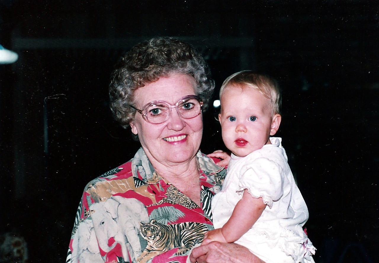 Grandma (Edith Humphries) with granddaughter, Katie Brooke Humphries