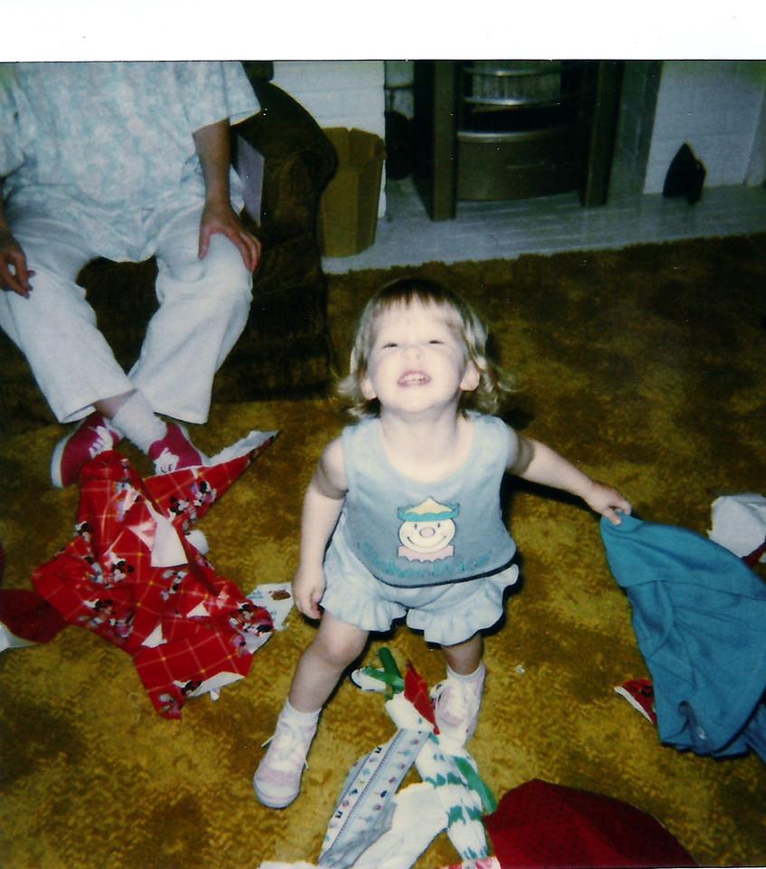Feisty little Sarah Jane on her 2nd birthday.