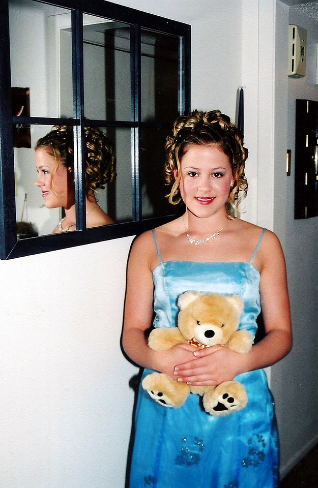 Sarah Jane and her teddy bear.