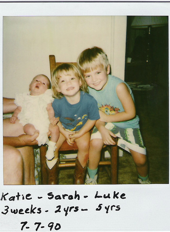 The Humphries Kids!  Katie, Sarah, and Luke.
