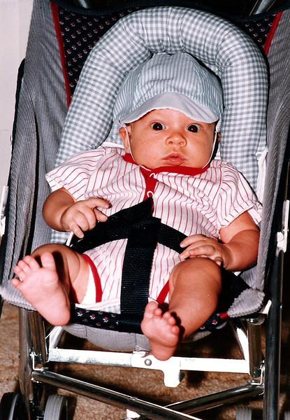 Luke at 7 weeks.  Look at those big eyes!