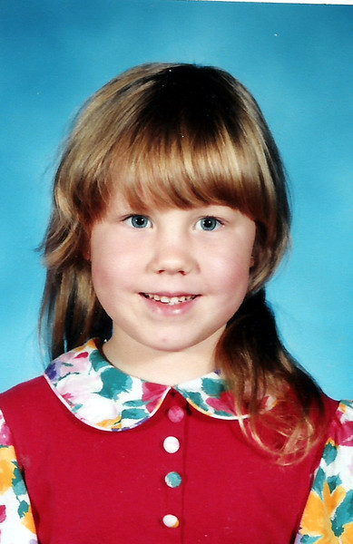 Katie Brooke - Age 6- 1st Grade.  What a cutie!