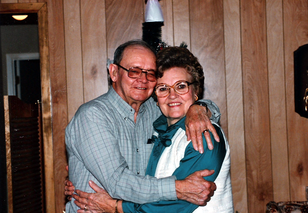 Cal and Edith Humphries -  My dad and Mom.   Could not have been any luckier than to have had them for a father and mother.  They stuck together through thick and thin, tough times and good times, and were totally dedicated to giving us a happy and loving home.  Good example of what I would call exemplary parents.  While going through tough times like all couples do they were totally dedicated to keeping the family happy and together, and worked through their problems together. They were a couple who took their marriage vows seriously, and were together until separated by death. My dad and mom were willing to sacrifice whatever they needed to for the family.  Thanks Dad and Mom for all you did for us, and for giving us such a happy and stable environment to be raised in!  All children cannot claim as much. Thanks again for being what all parents should be to their children.  Miss you.