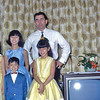 Our family in our duplex on Eglin AFB, FL in 1966.