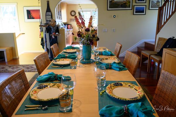 Kitt set up a very nice dinner table.