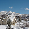 Steamboat Springs Ski Center from our rental house