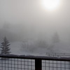 Morning ground fog at -40 (F/C) in Steamboat Springs