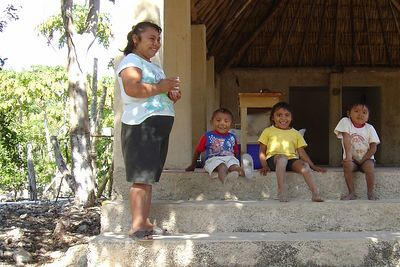 Cute kids at one of our snorkelling stops.