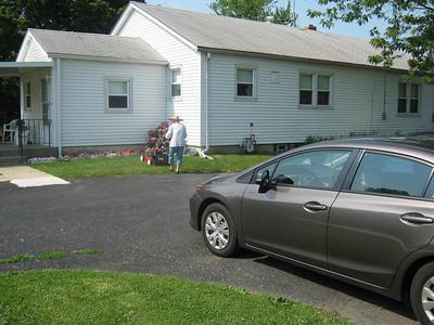 Claradean Meyers mowing her grass - Summer 2012