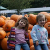 Girls at the pumpkin patch.