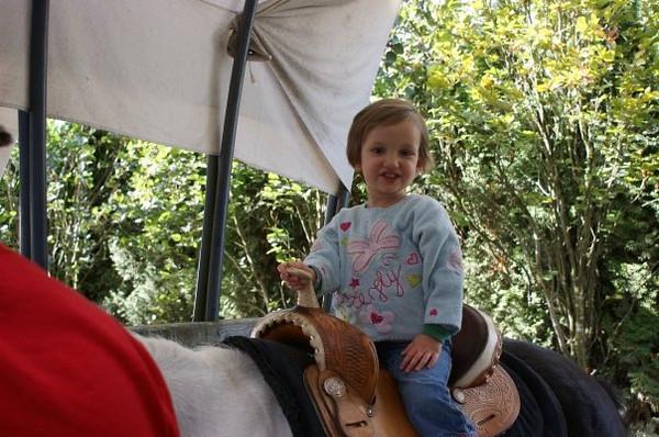 Mia's first pony ride.