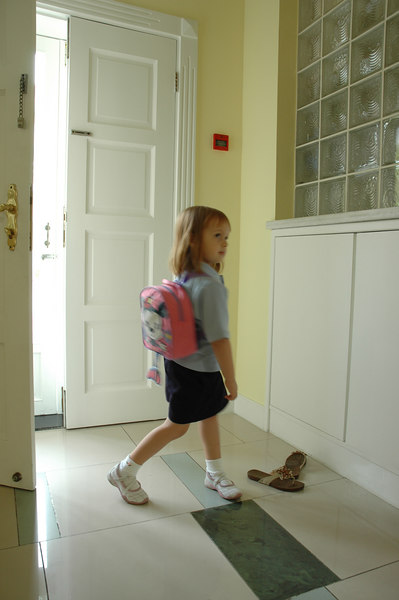 Mia's 1st day of school and other misc photos