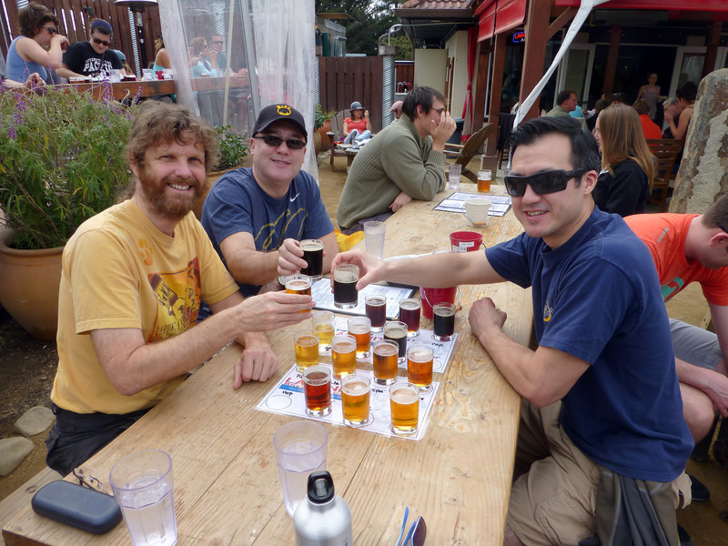 "First stop is Lagunitas. We opt for the ""Around the World"" sampler of 16 different types of beer (what else could we do?)"