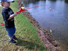 Michael's 1st Fishing Trip and his 1st fish.  July 11, 2009<br /> Michael LOVES to go fishin' with his daddy!