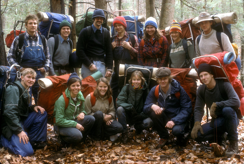 Vanderbilt Wilderness Skills class. 1980