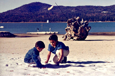 Chris and Mike playing at Bear Lake, ID.
