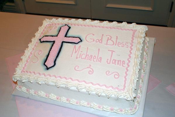 michaela's christening