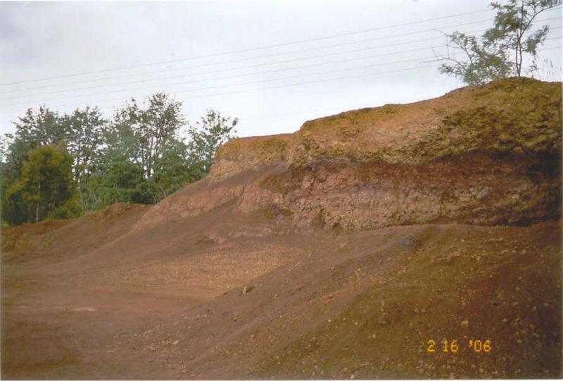Red clay hills along Waimea Canyon Road 2-16-06