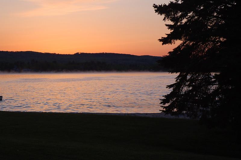 Sunrise over Portage lake