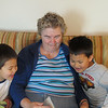 On our first visit to open the cottage, the boys asked Grandma to read some of their favorite stories.