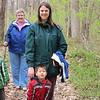Jonathan, Susan, Katie and Alex hiking at Love Creek.