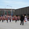The Benton Harbor High School band led the parade.