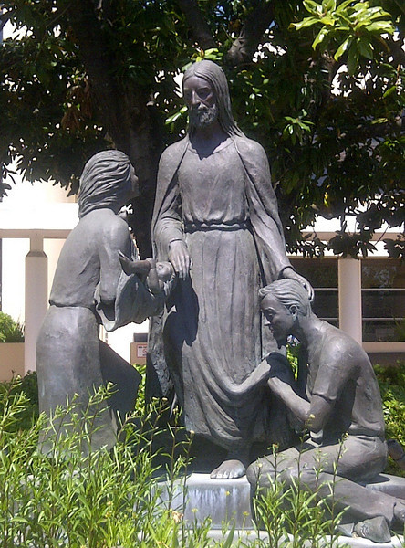 """Er route to visit one of """"my people"""" I took a shot of this lovely statue outside Santa Rosa Memorial Hospital... the place where I got put back together a few years back."""