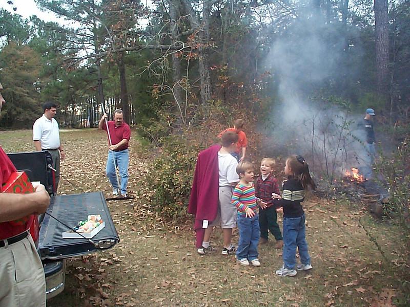 CHILDREN AT FIRE