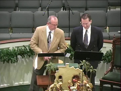 "Mike & Tommy singing ""Mary did you know?"" First Baptist Church, Hawkinsville"