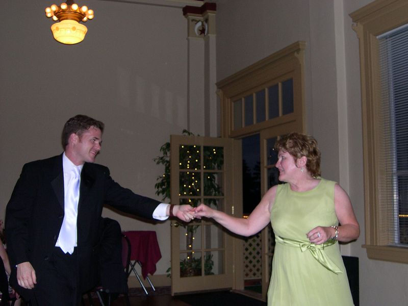 Mike and Karen enjoy a mother-son dance
