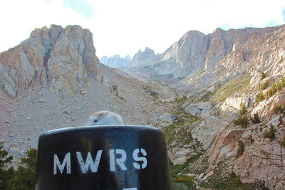 Rich planned to carry Olie in a water bottle to the top of Mt. Whitney