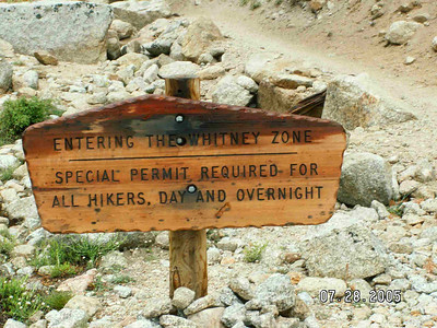 You have to have a hiking permit to climb Mt. Whitney
