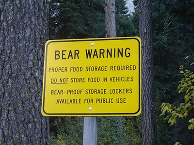 You are also required to carry a bear-proof food storage container
