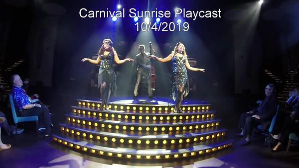 Carnival Sunrise PlayCast October 2019