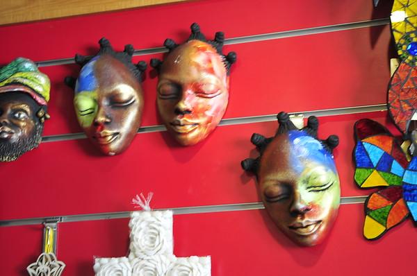Masks in Jamaica