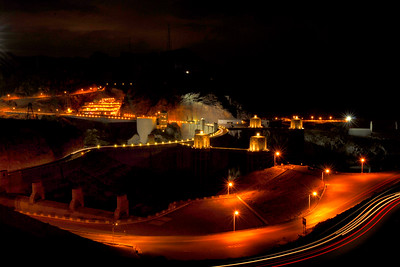 Hoover Dam Construction site at 4:30 AM