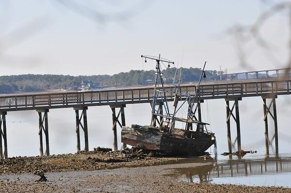 Abandoned Boat on Hilton Head