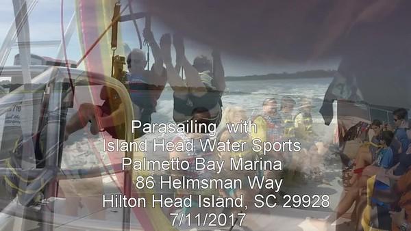 Mike & Carol ParaSailing around Hilton Head Island, SC