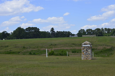 The View of South to North of the Civil War Prison at Andersonville, Ga by Mike Newman