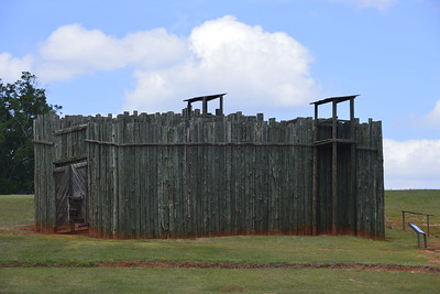 A Rendition of the Stockade Wall at The Civil War Prison at Andersonville, Ga by Mike Newman
