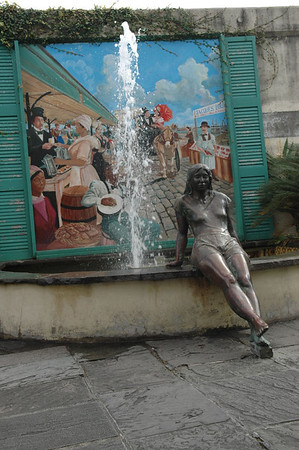 Lady by Fountain