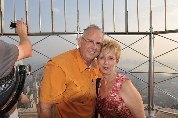 Carol & Mike on top of Empire State Building