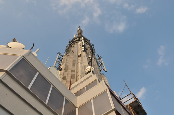The tip top of the Empire State Building