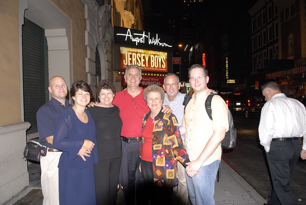 Tommy and Family on Broadway