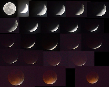 Blood Moon in 2014 on Ormond Beach Fl